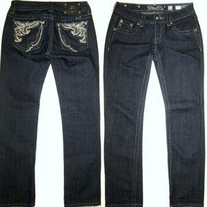Miss Me NEW 26 Capri Dark Rhinestone Jeans